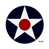 USAF Star and Bars Insignia Military Aircraft Roundel  - 241102-K