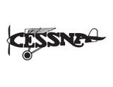 Vintage Cessna Aircarft Manufacturer Logo