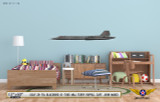 Lockheed SR-71A Blackbird Decorative Aircraft Profile on Kids Room Wall Mockup Display