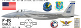 F-15 Eagle 159th Fighter Squadron Aircraft Profile Product Image