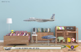 F-15 Eagle 159th Fighter Squadron Aircraft Profile on Kids Room Wall Mockup Display