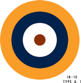 RAF Type A.1 Military Aircraft Roundel Insignia