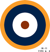 RAF Type A.2 Military Aircraft Roundel Insignia
