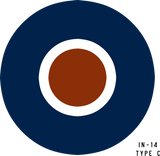 RAF Type C Military Aircraft Roundel Insignia