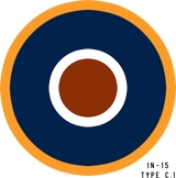 RAF Type C.1 Military Aircraft Roundel Insignia