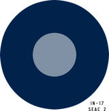 RAF SEAC (Pale) Military Aircraft Roundel Insignia