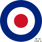RAF Type D Military Aircraft Roundel Insignia
