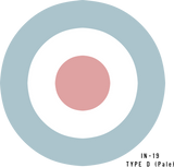 RAF Type D (Pale)  Military Aircraft Roundel Insignia