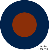 RAF Low-Visibility Military Aircraft Roundel Insignia