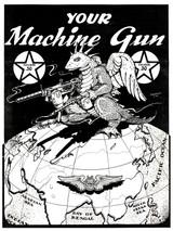 Your Machine Gun Vintage Military Poster