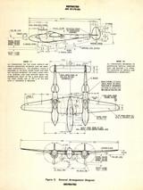 P-38 Lightning Vintage Military Poster Mockup Art Display