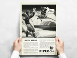 """Piper Cub """"Arctic Rescue!"""" Vintage Military Aircraft Airplane Poster Mockup Art Display"""