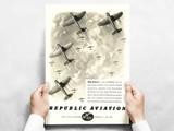 "Republic Aviation ""Top Layer"" P-47 Thunderbolt Vintage Military Aircraft Airplane  Poster Mockup Art Display"