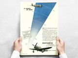 "Republic Aviation ""It Fights Up here!"" P-47 Thunderbolt Vintage Military Aircraft Airplane Poster Mockup Art Display"