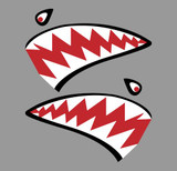 Shark Mouth Teeth Nose Art Military Aircraft Decal SM-03