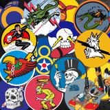 Squadron Insignia Sticker 6 Pack - Assorted Decals