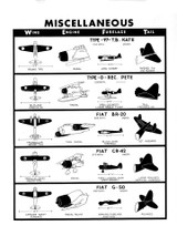 Miscellaneous Aircraft WWII Military Identification Poster