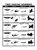 Two Engine Bombers #3 Military Aircraft Id Poster