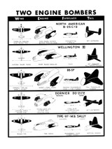 Two Engine Bombers #1 Military Aircraft Id Poster
