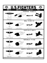 U.S. Fighters - WWII Military Aircraft Identification Poster