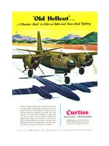 """B-26 Marauder """"Old Hellcat"""" Vintage Military Aircraft Poster"""