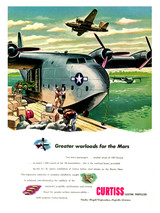 """Martin Mars """"Greater Warloads"""" Vintage Aircraft Poster"""