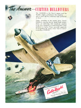 """Curtiss HellDiver """"The Answer"""" Vintage Military Aircraft Poster"""