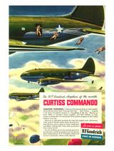 Curtiss Commando Vintage B.F. Goodrich Military Aircraft Poster