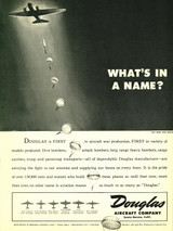 "Douglas ""What's in a Name?"" Military Aircraft Ad Poster"