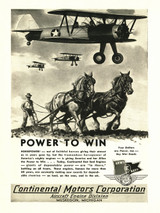 "Continental Motors ""Power to Win"" Engine Poster"