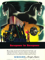 """Wright Aircraft Engines """"Horsepower for Horsepower"""" Military Airplane Engine Poster"""