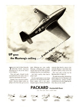 "Packard Engines ""Up goes the Mustang's Ceiling"" Poster"