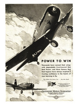 "Continental Motors ""B-13 Power to Win"" Engine Poster"