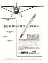 "Sensich Bros. ""Right on the Nose"" Aircraft Poster"