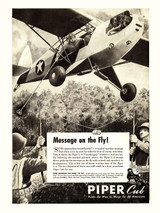 "Piper Cub ""Message on the Fly"" Vintage Poster"