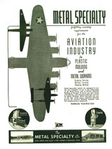 Metal Specialty Co.  Vintage Military Aviation Poster Mockup Art Display