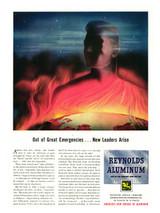 "Reynolds Aluminum ""Out of Great Emergencies"" Vintage Poster Mockup Art Display"