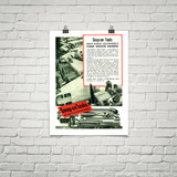 """Snap-On Tools """"Help Build Lockheed's Famed Hudson Bombers"""" Vintage Poster"""