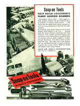 "Snap-On Tools ""Help Build Lockheed's Famed Hudson Bombers"" Vintage Poster Mockup Art Display"