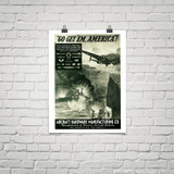 "Aircraft Hardware Manufacturing Co. ""Go Get 'Em America: Attack Run"" Poster Mockup Art Display"