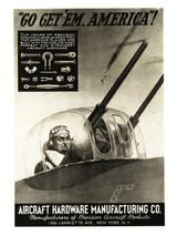 "Aircraft Hardware Manufacturing Co. ""Go Get 'Em America"" Vintage Poster"