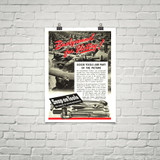 """Snap-On Tools """"Background for Victory!"""" Vintage Poster Mockup Art Display"""