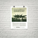 """P-38 Lockheed Lightning """"6000 Experts"""" Vintage Military Aircraft Airplane Poster"""