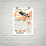 "P-38 Lockheed Lightning ""8 Miles Up"" Vintage Military Aircraft Airplane Poster"