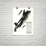 "P-38 Lockheed Lightning ""Call it Lightning"" Vintage Military Aircraft Airplane Poster"