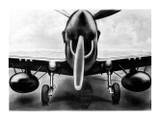 P-40 Aircraft View Poster Mockup Art Display