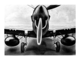 P-40 Aircraft View Poster Mockup Art Display