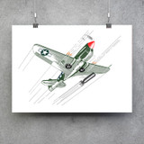 P-40 Front Aircraft View Poster