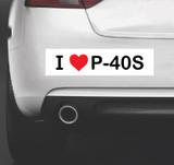 I Love Warhawks - Bumper Sticker