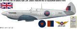 "Spitfire Mk VII MD120 ""Spirt of Kent"" - Aircraft Profile Wall Decal"